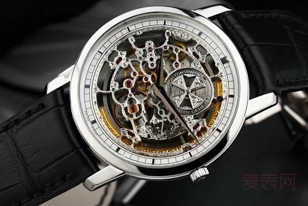 全镂空白金江诗丹顿传袭旧手表回收多少钱