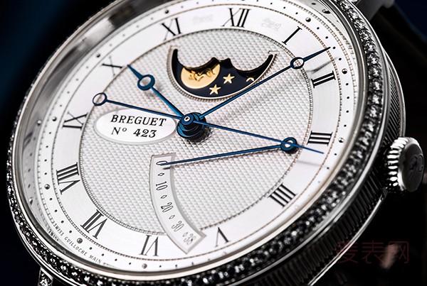 宝玑8788BB手表回收一般几折 月相功能堪称品牌一绝