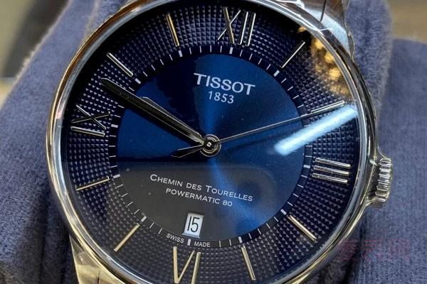 天梭二手手表能卖多少钱取决于新旧程度