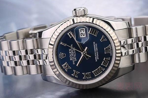 不带钻的女款劳力士手表回收价格最低只有3折?