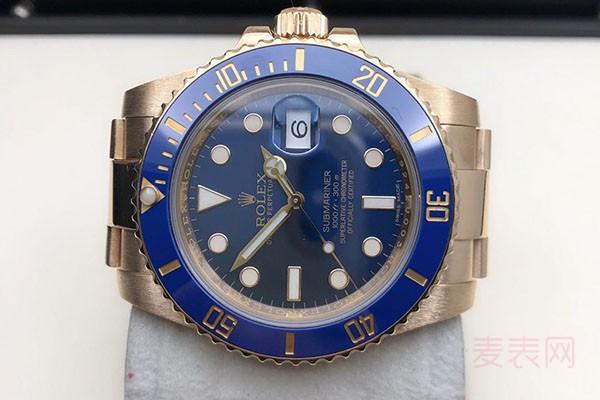 蓝水鬼劳力士水鬼回收手表报价