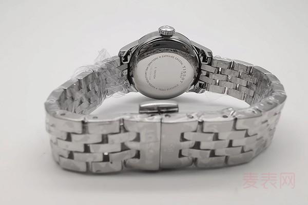 天梭表二手表能卖多钱得看款式热度